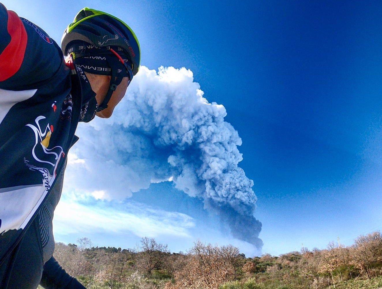 Photo by: Protezione Civile Sicilia; desc: l'eruzione dell'Etna di ieri mattina; licence: cc