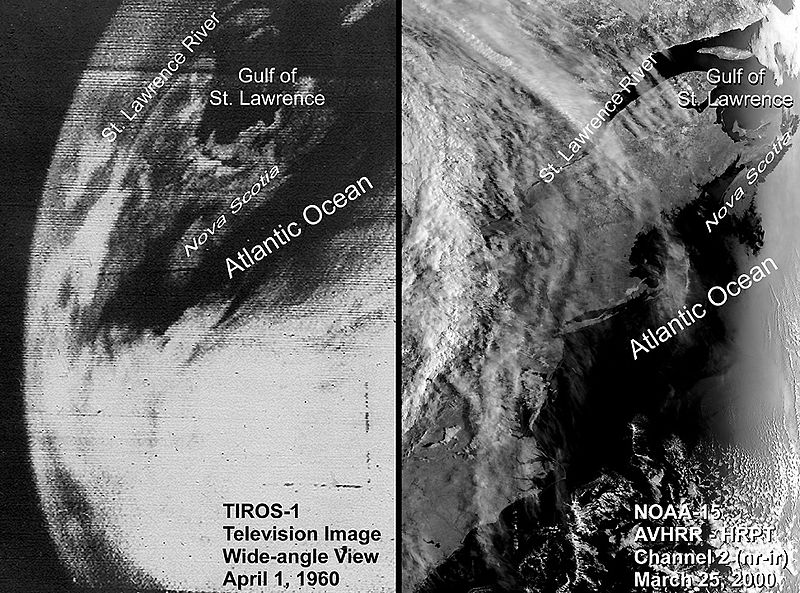 photo: TIROS 1 and NOAA 15; licence: cc