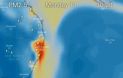 photo:Windy.com;desc:Visualisation of PM2.5 over New South Wales using Windy shows the high particulate matter values in the region.;licence:cc;