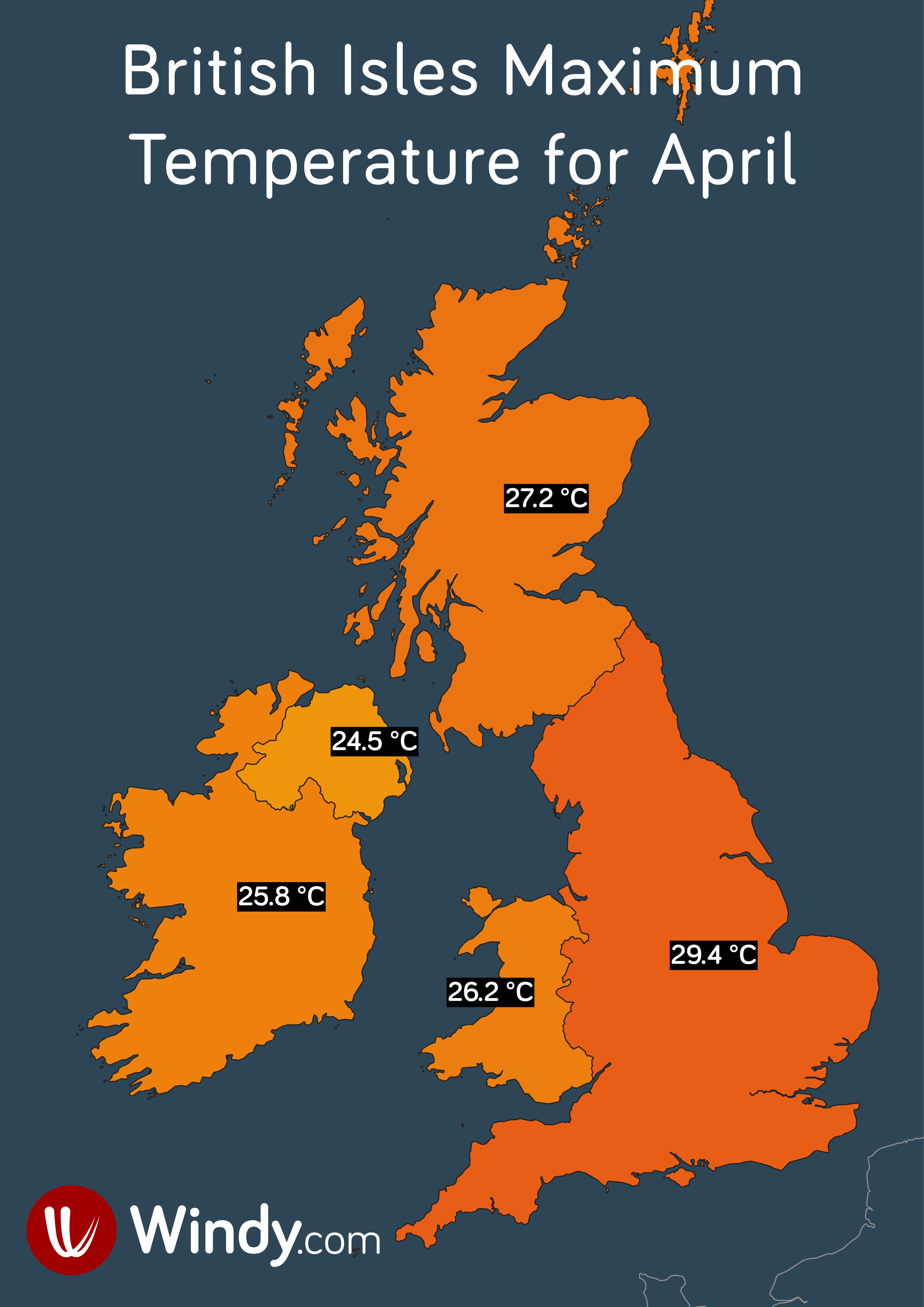 photo: Windy.com;licence: cc;desc: British Isles Maximum Temperature for April.;