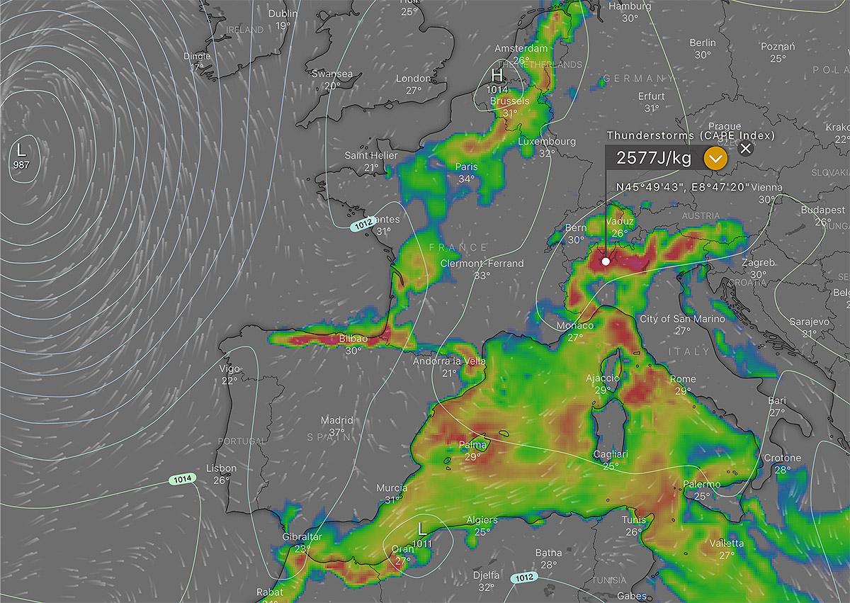 CAPE in meteorology