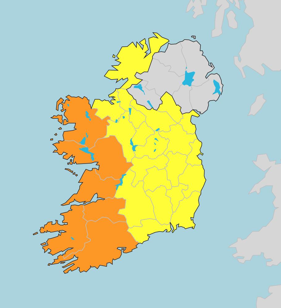 photo:Met Éireann;desc:Severe and moderate warnings