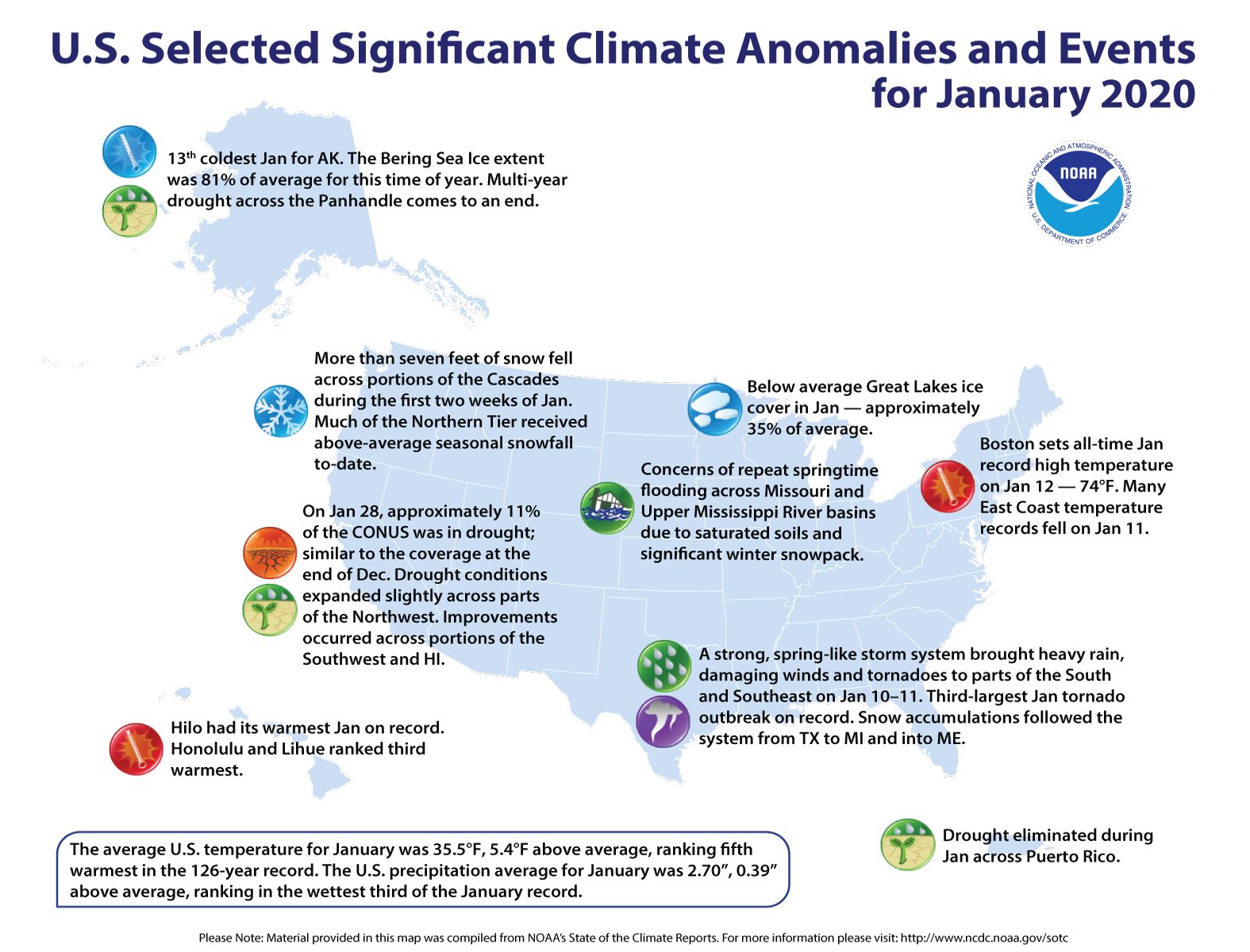 photo:NOAA;desc:January 2020 Significant Events Map