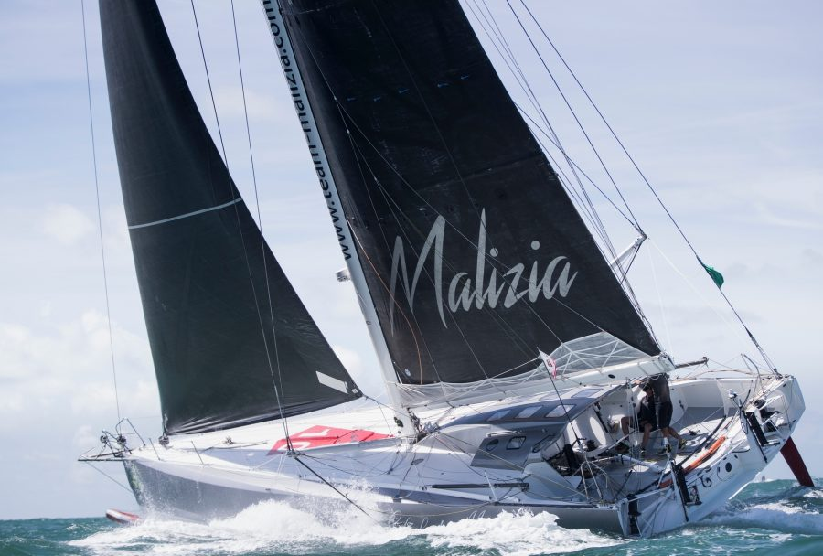 photo:team-malizia.com;desc:Malizia II at 2017 Rolex Fastnet race;