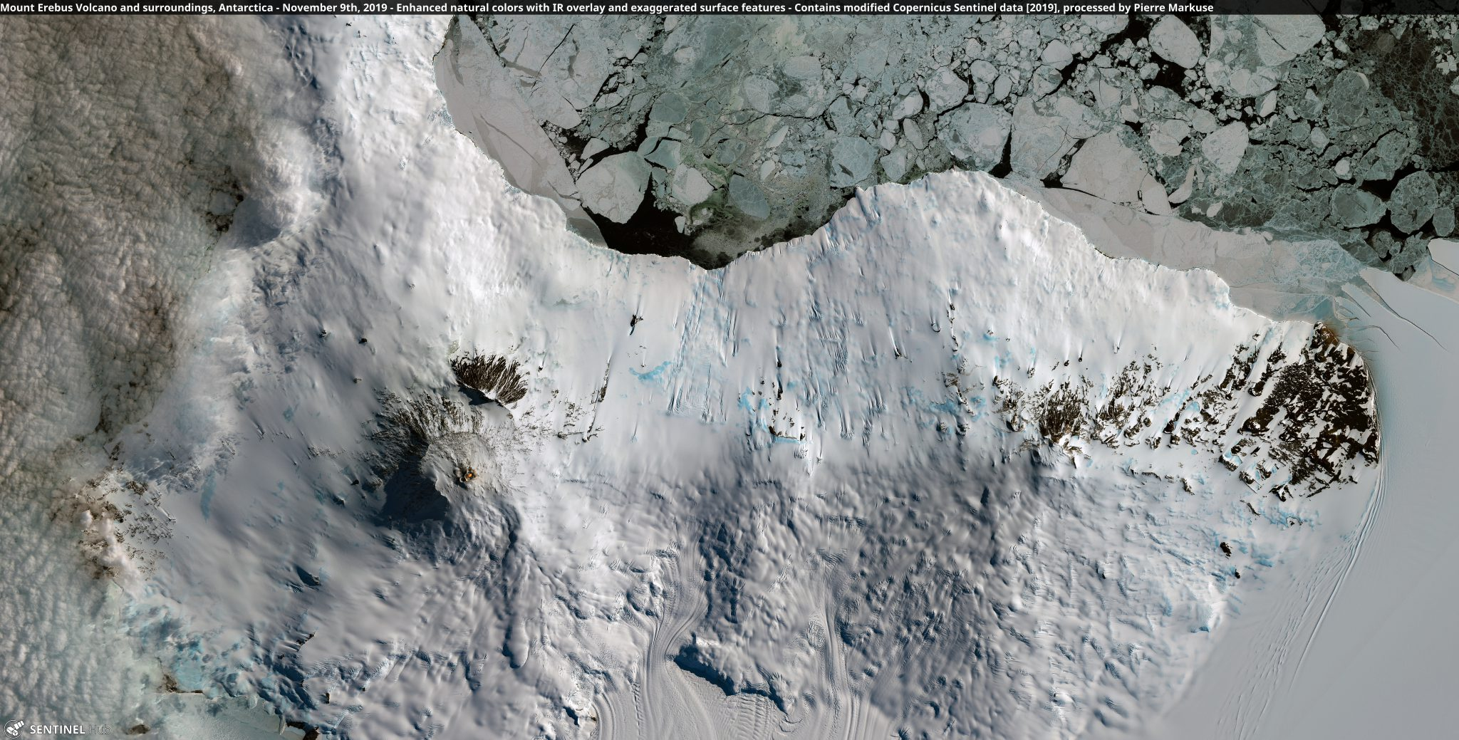 desc:Mount Erebus Volcano, Antarctica - November 9th, 2019 Copernicus/Pierre Markuse