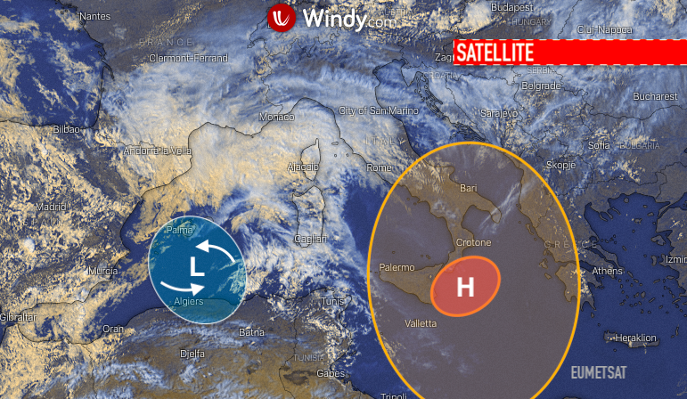 Photo: windy.com; Eumetsat today; licence: cc