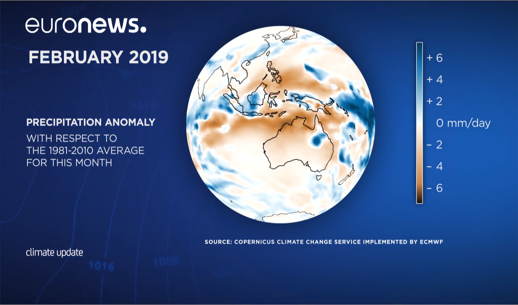 photo: Euronews;desc: Copernicus Climate Update February 2019.