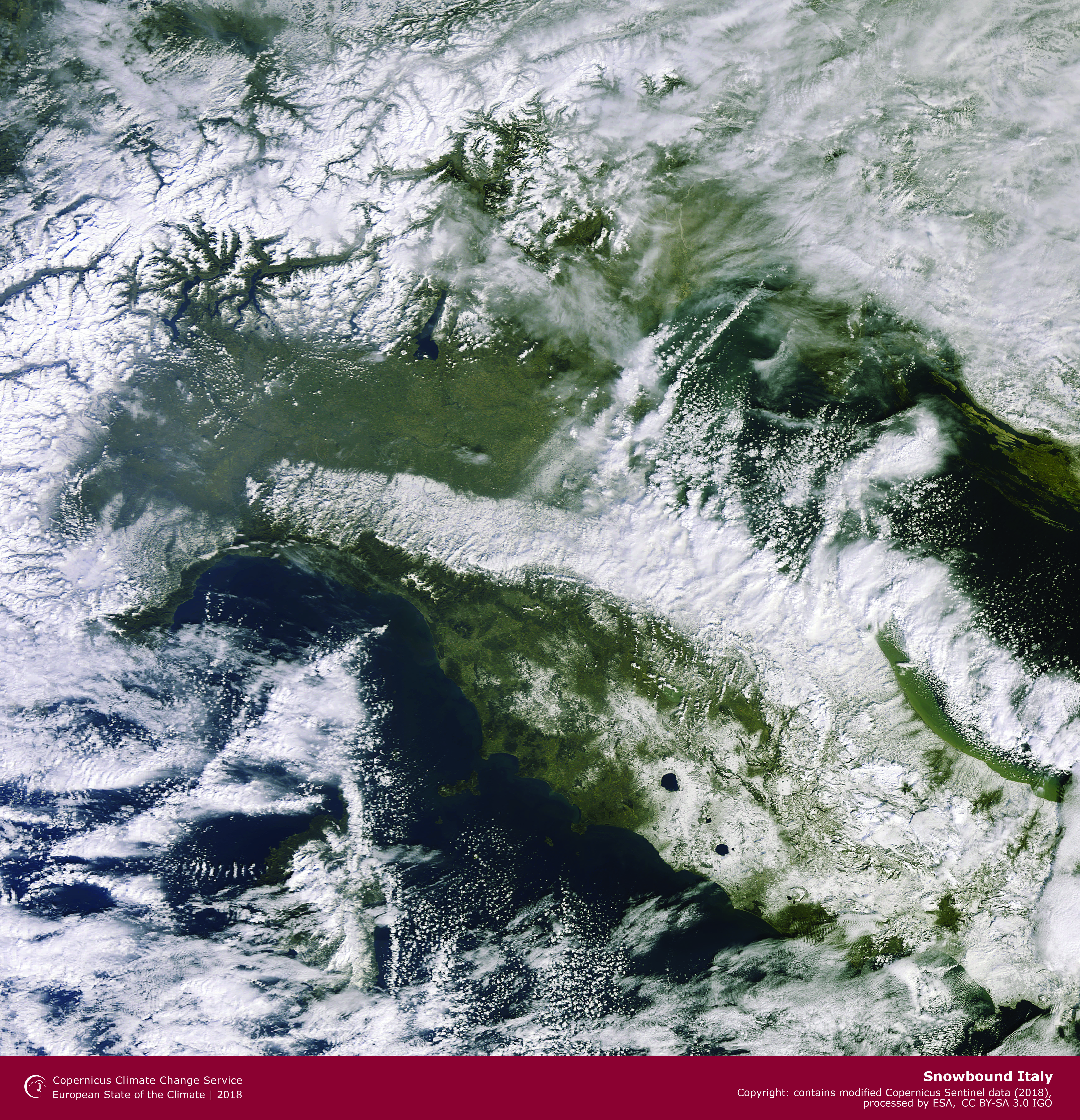 photo: Copernicus;desc: Snowbound Italy.;