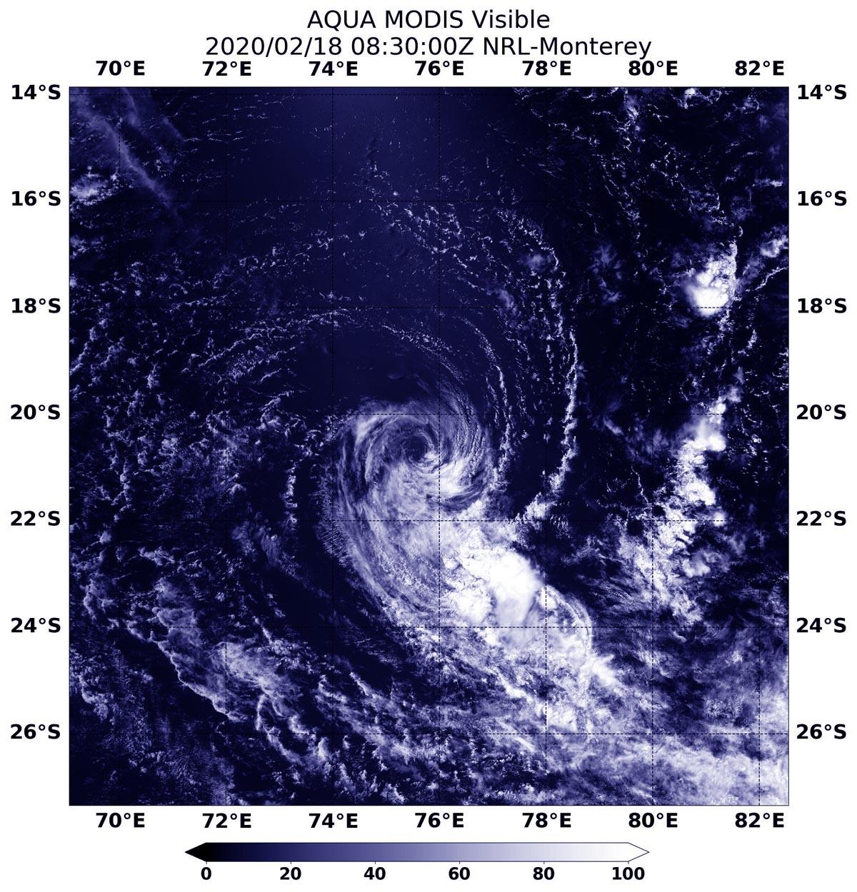 photo:NASA NRL;desc:Aqua image of Gabekile;