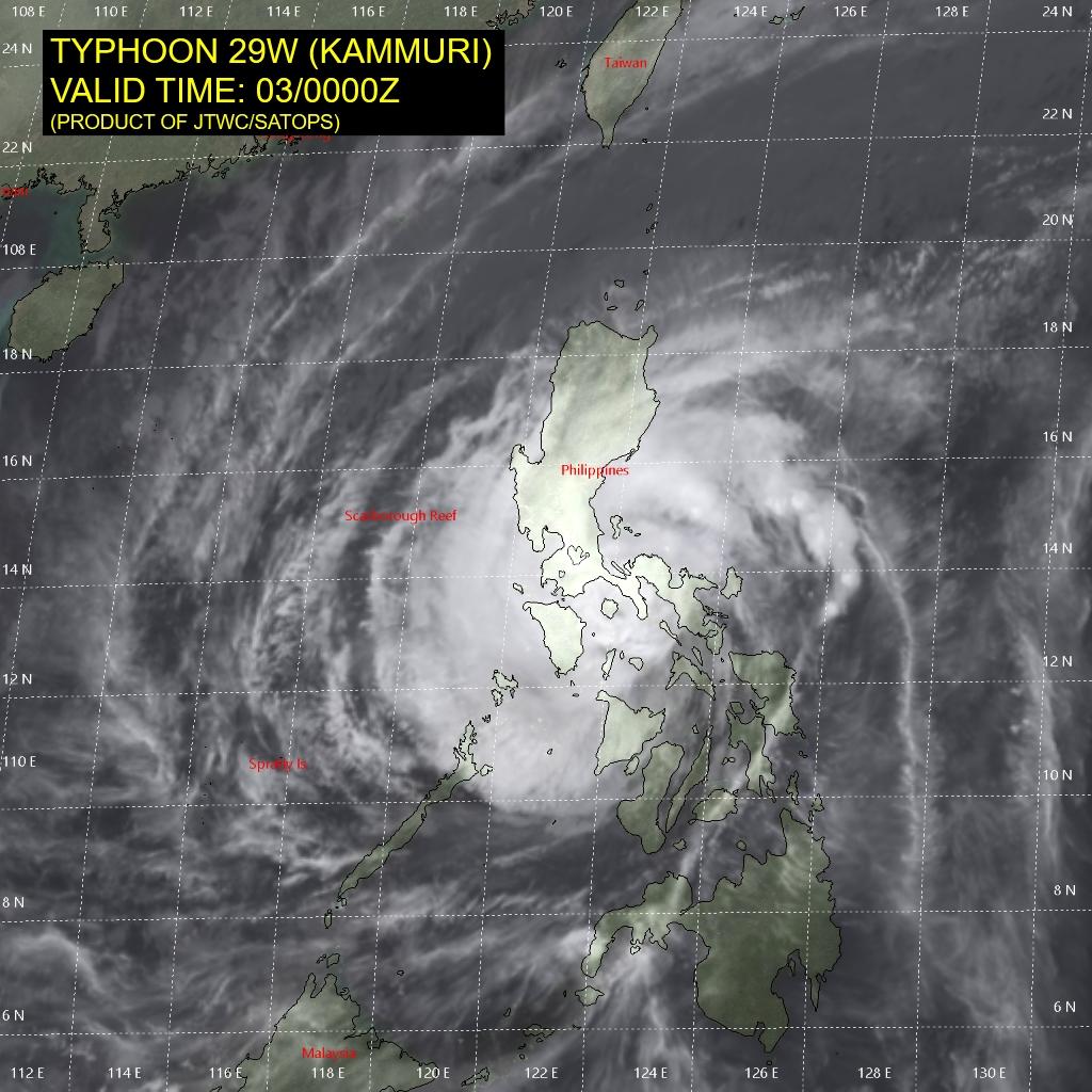 photo:JTWC;Typhoon Kammuri (Tisoy) on Dec 3 at 12 a.m. UTC;