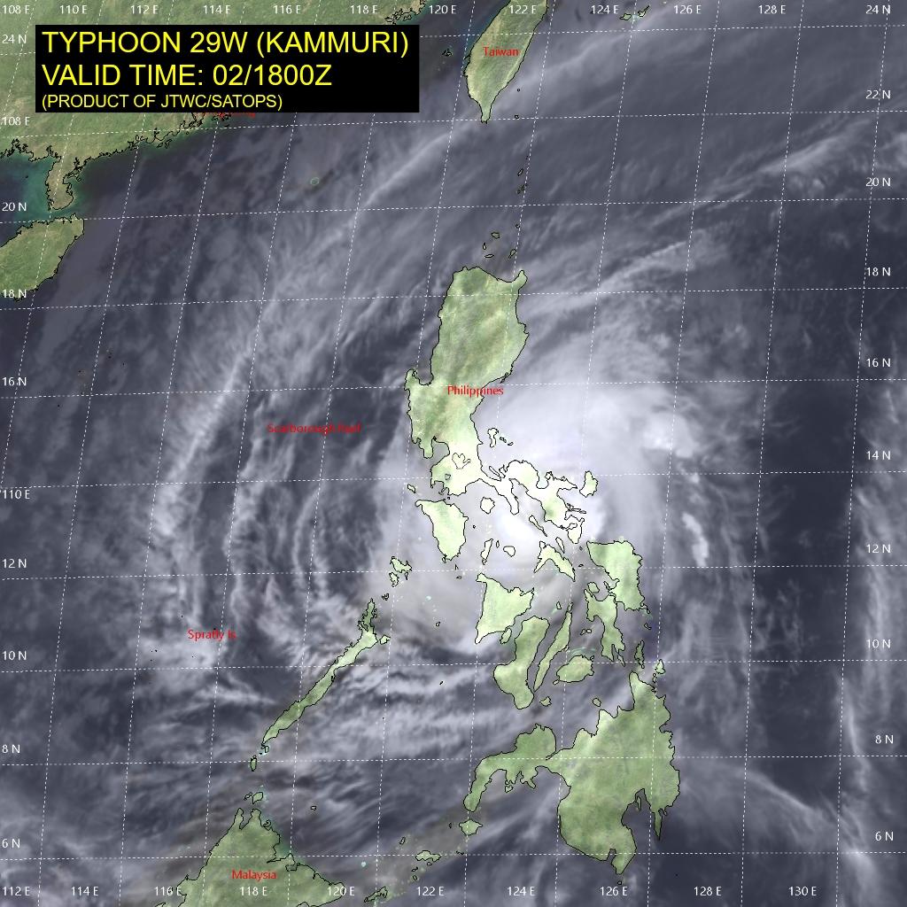 photo:JTWC/SATOPS;desc:Typhoon Kammuri over Philippines;