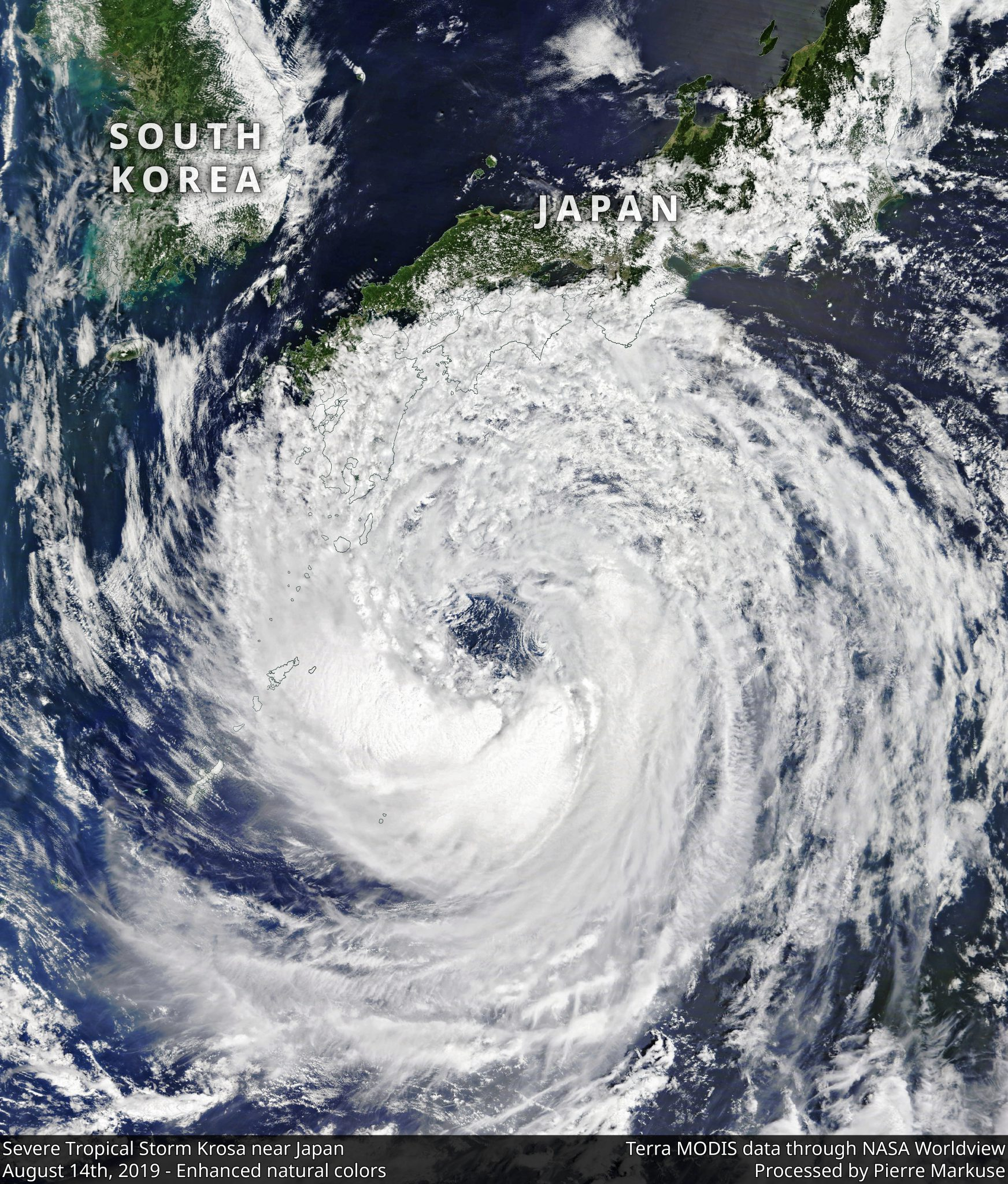 desc:Severe Tropical Storm Krosa near Japan - August 14th, 2019