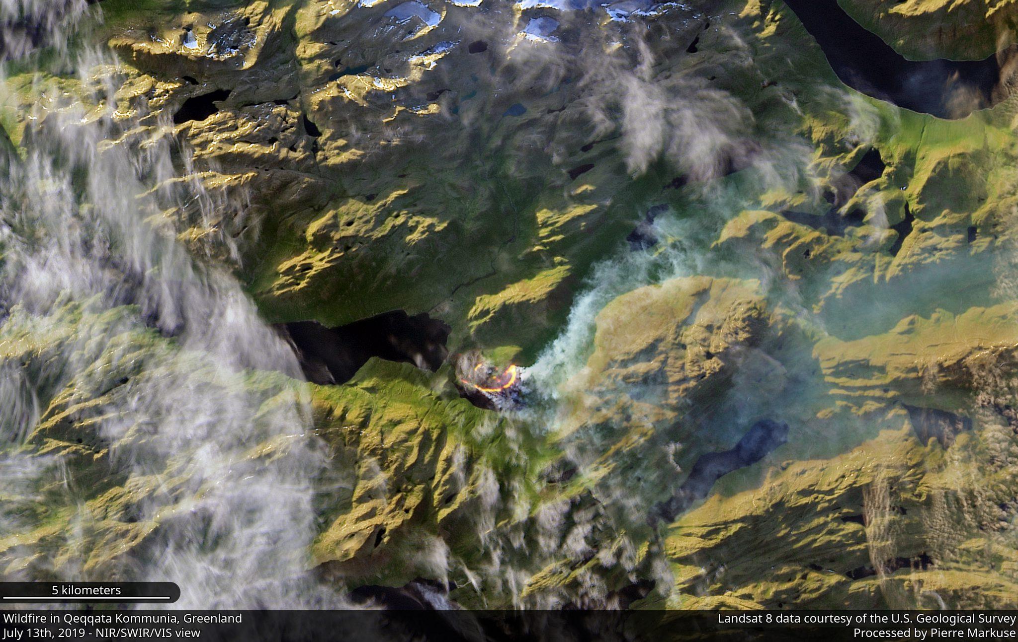 desc:Wildfire in the Qeqqata Kommunia, Greenland Copernicus/Pierre Markuse