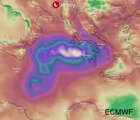 photo: Windy.com; desc: ECMWF, Wind accumulation; licence: cc
