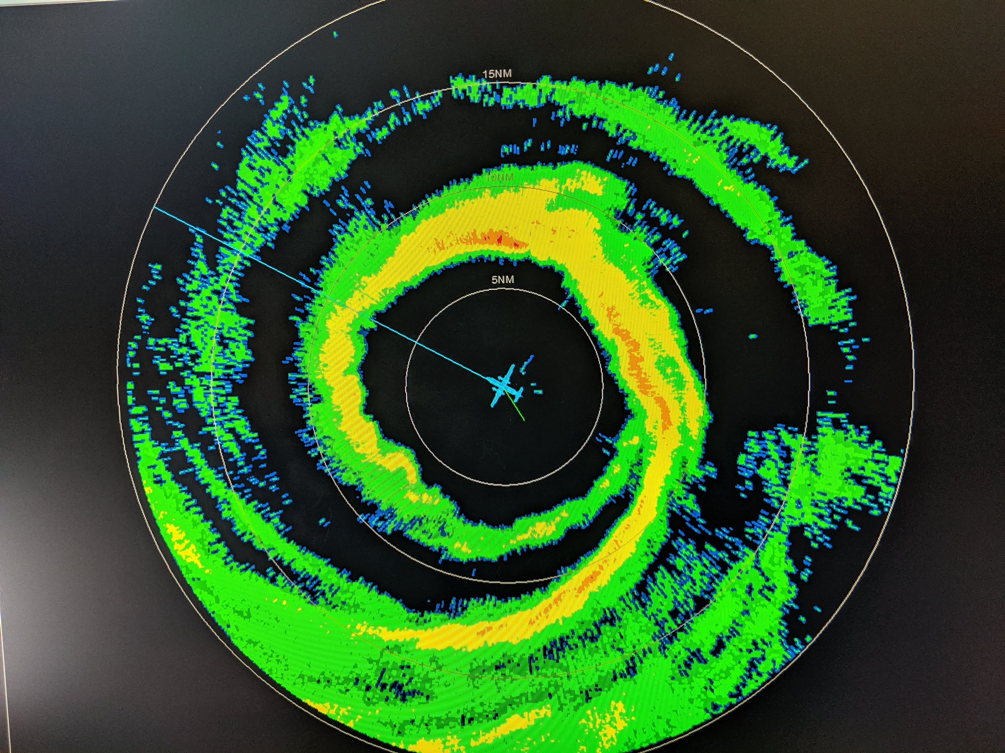 photo: J. Sippel, NOAA;desc:NOAA42 in the eye of Dorian - radar;
