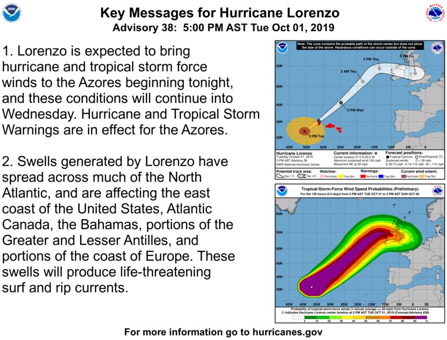 photo:NOAA/NHC;desc:Hurricane Lorenzo Key Messages (Advisory 38)