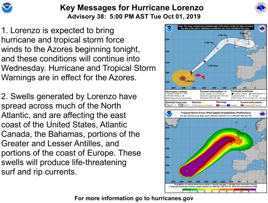 photo:NOAA/NHC;desc:Hurricane Lorenzo Key Messages (Advisory 38)