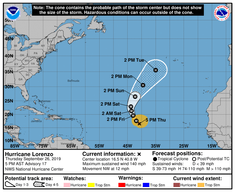 photo:NOAA/NHC;desc:Hurricane Lorenzo Advisory #17