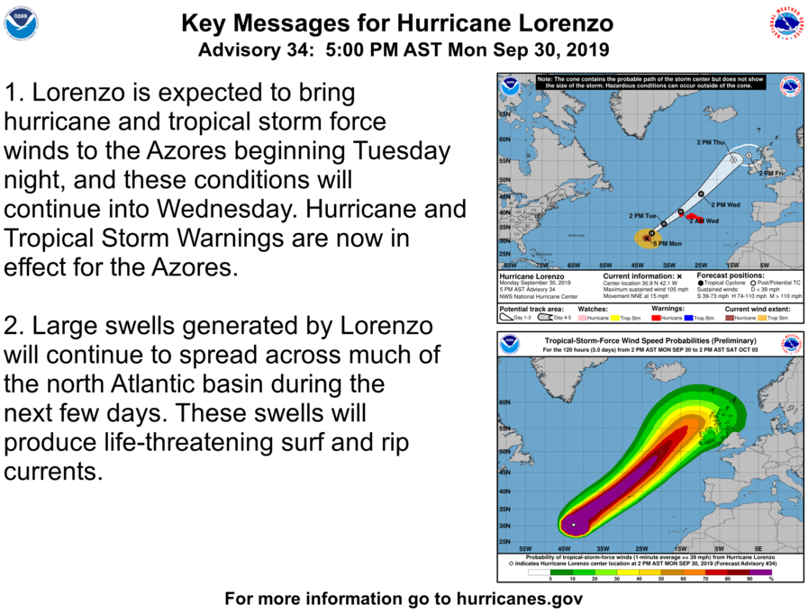photo:NOAA/NHC;desc:Hurricane Lorenzo Key Messages (Adv. 34)
