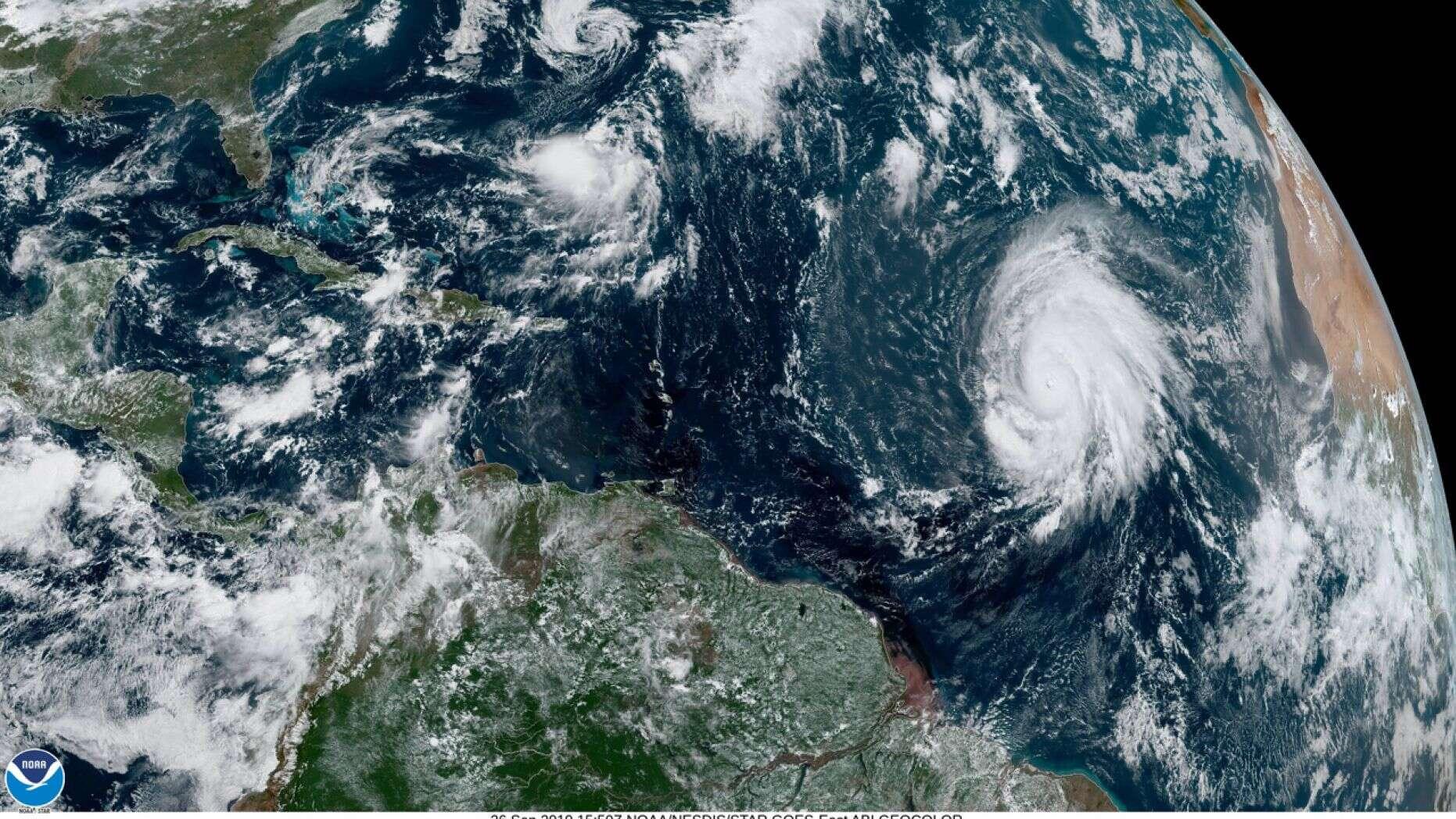 photo:NOAA;desc:Hurricane Lorenzo on Thursday as seen from GOES East