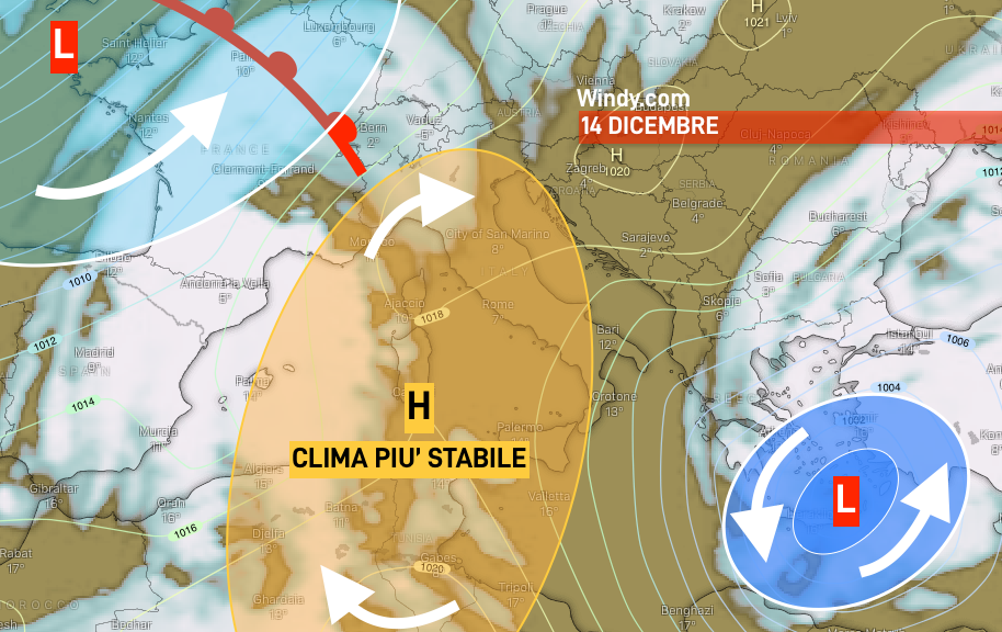 Photo by: windy.com; desc: previsioni 14 dicembre; licence cc
