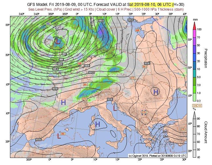 GFS Model forecast