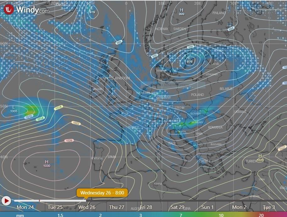 photo: Windy.com; desc: rain snow forecasted; licence: cc