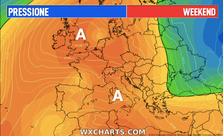 Photo by: wxcharts; desc: pressione weekend; licence cc