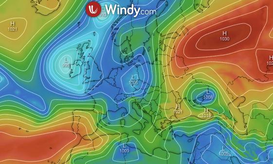 Photo by: windy.com; desc: situazione in Europa 11 maggio 2021; licence: cc