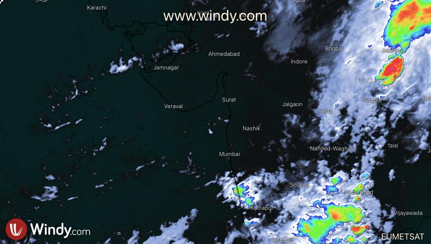 Photo by: windy.com; desc: immagine satellitare su India; licence: cc