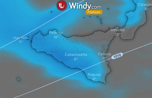 Photo by: windy.com; desc: precipitazioni; licence cc