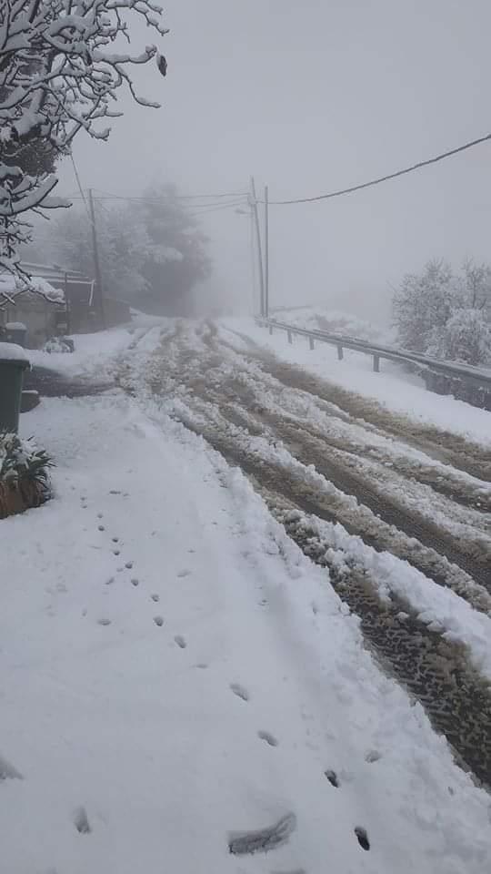 photo:خبراء طقس سورية Syria Weather Experts;desc:هطولات ثلجية في سورية مرتفعات ريف دمشق;