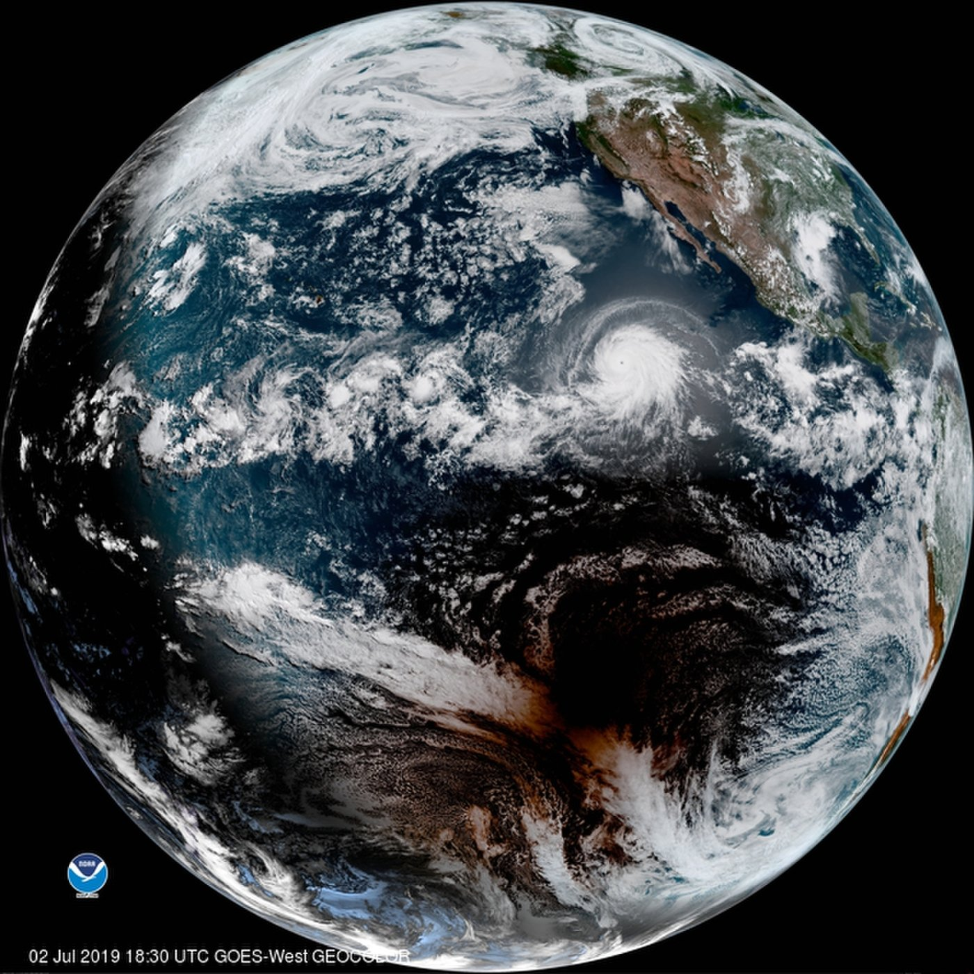 photo: GOES West;desc: National Oceanic and Atmospheric Administration (NOAA) & NASA;