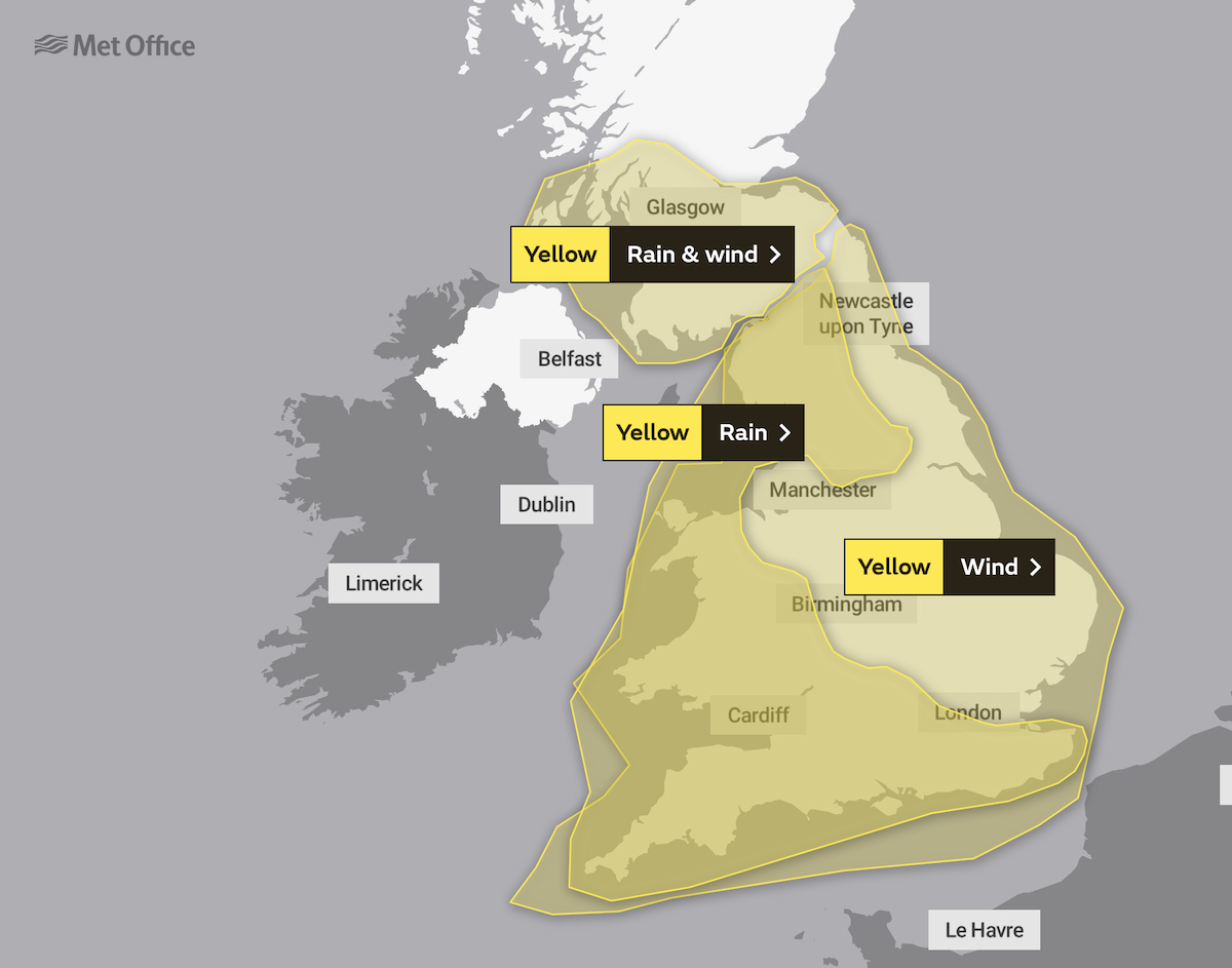 photo:Met Office;desc:Saturday Warnings;