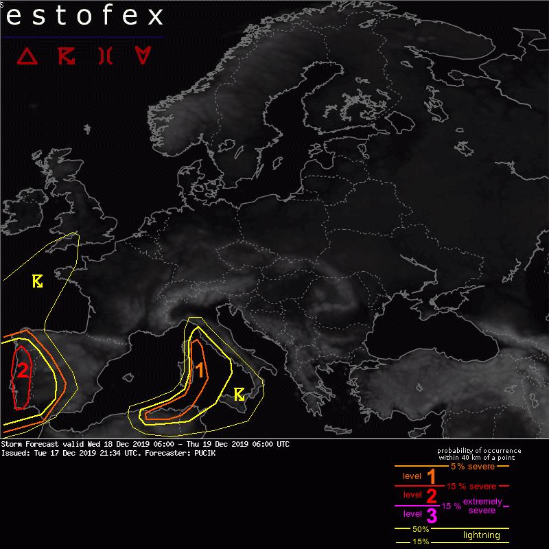 photo:ESTOFEX;desc:Storm forecast; licence:cc;
