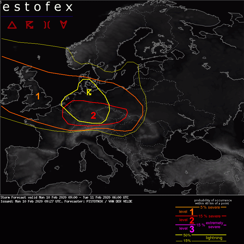 photo:ESTOFEX;decs:Storm Forecast