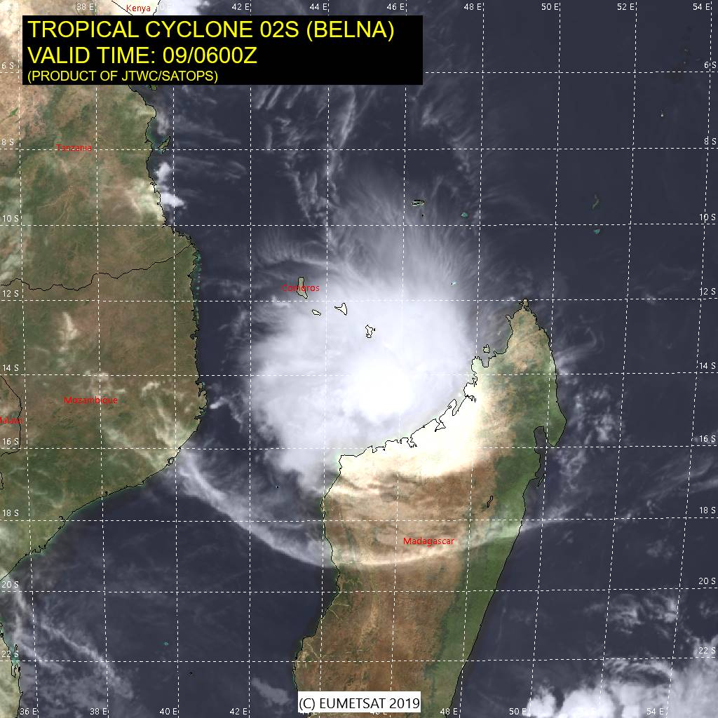 photo:JTWC/SATOPS;desc:Tropical Cyclone Belna on 9 December 2019 at 6 a.m. UTC;
