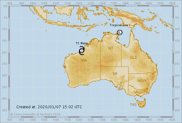 photo:Australian Government Bureau of Meteorology;desc:Current Tropical Cyclones