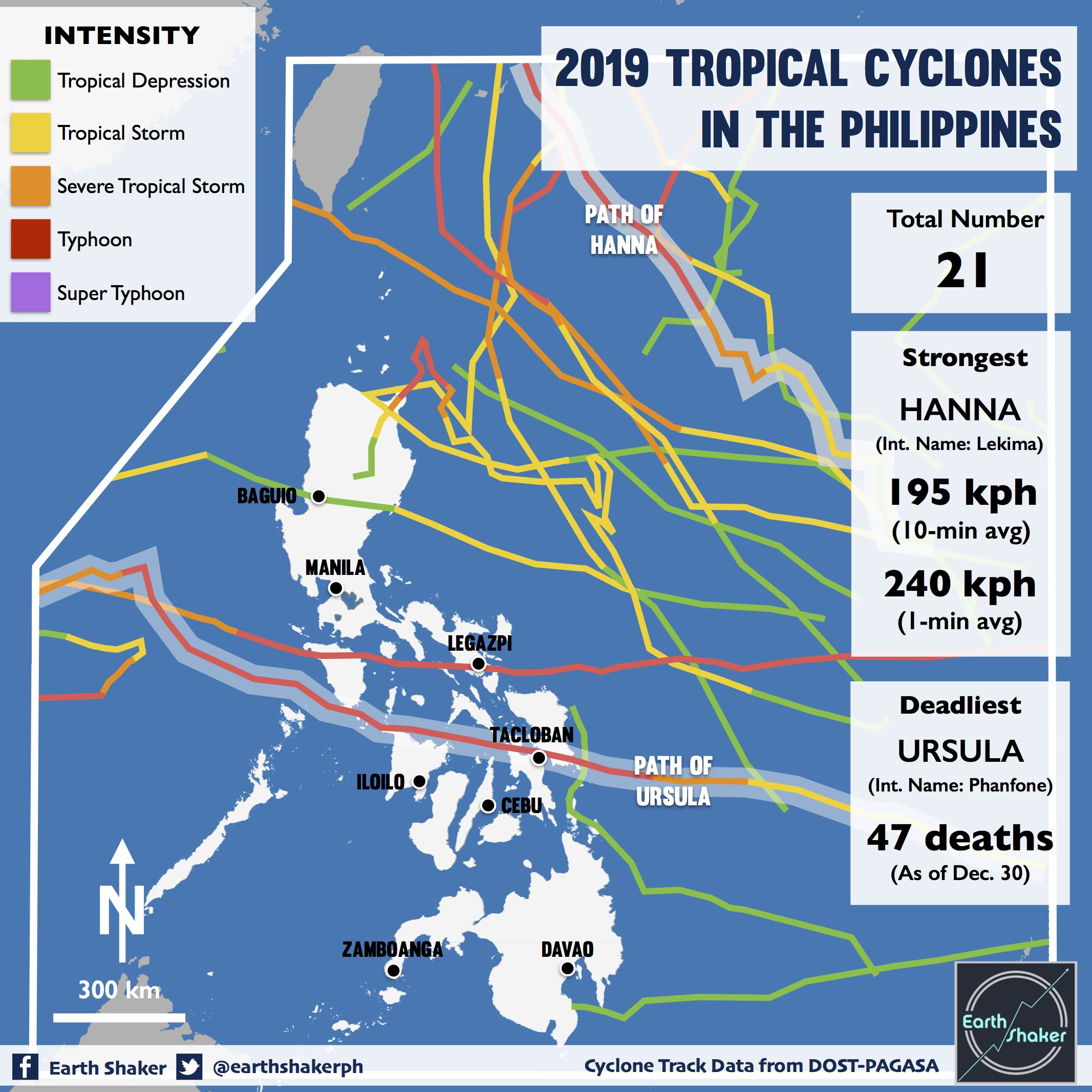 photo:Earth Shaker;desc:Cyclone Track Data from DOST-PAGASA