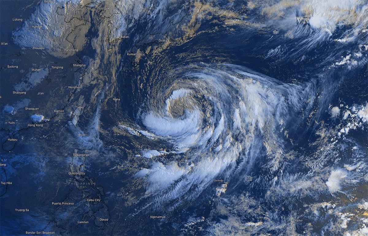 photo:Windy.com;desc: Tropical Storm Krosa over WPAC on 11 Aug 2019 at 11:30 p.m. UTC