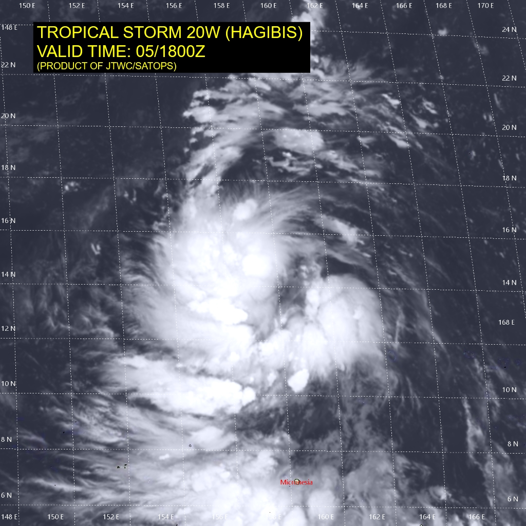 photo:JTWC;desc:Troical Storm Higibis Warning 3