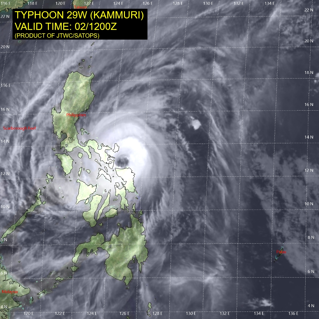 photo:JTWC/SATOPS;desc:Typhoon Kammuri (Tisoy) on Dec 2 at 12 p.m. UTC;