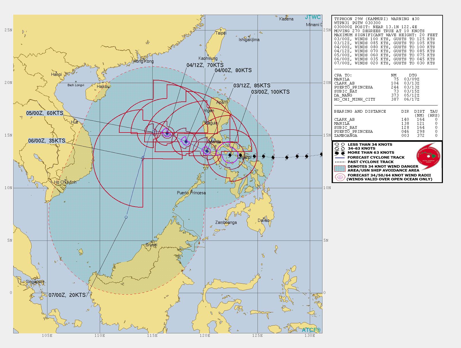 photo:JTWC;desc:Typhoon Kammuri Warning #30;