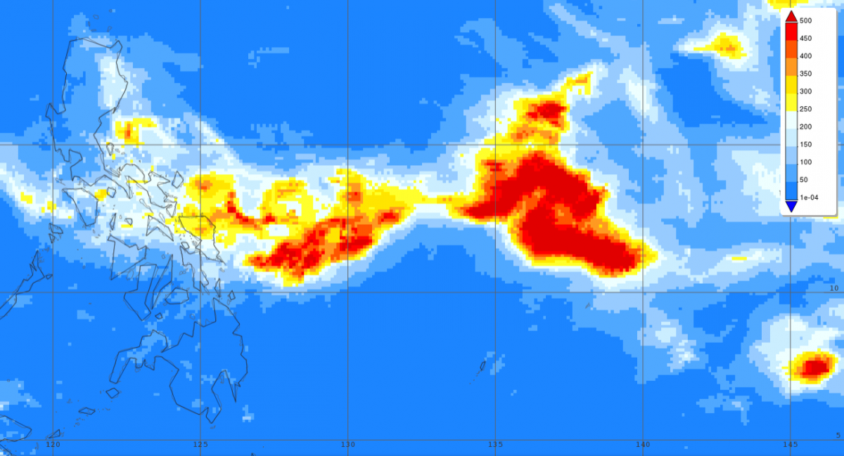 photo:NASA GSFC;desc:GPM IMERG data of rainfall accumulations in Kammuri