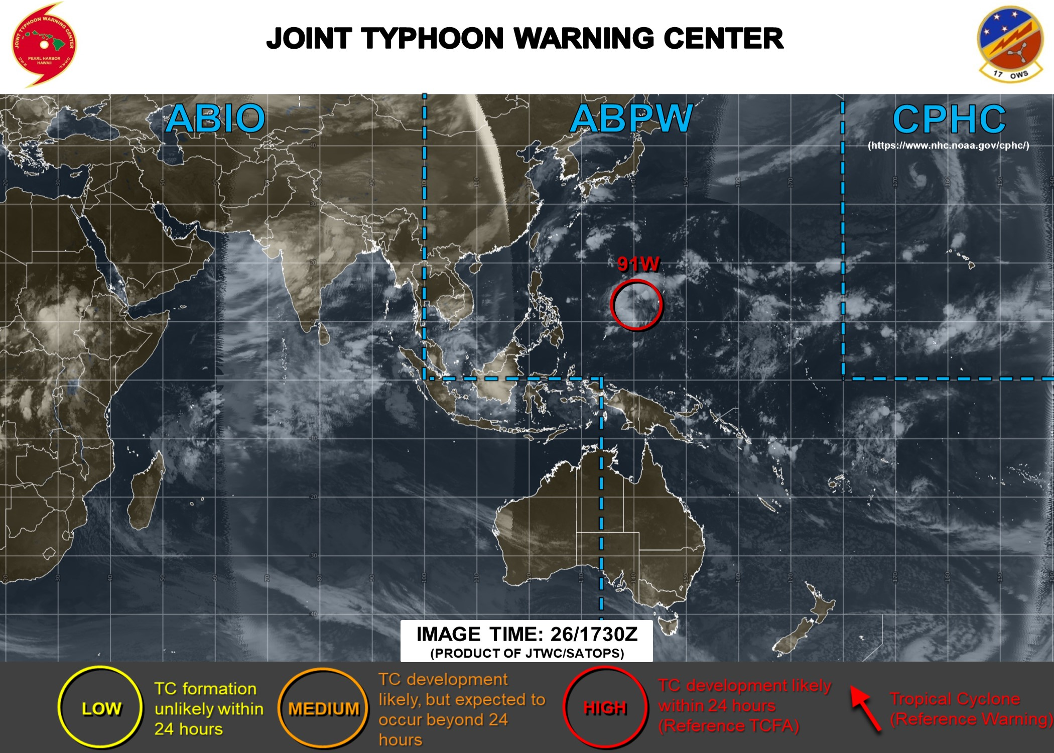 photo:JTWC/SATOPS;Tropical Warnings. Image Time: 26/1730Z