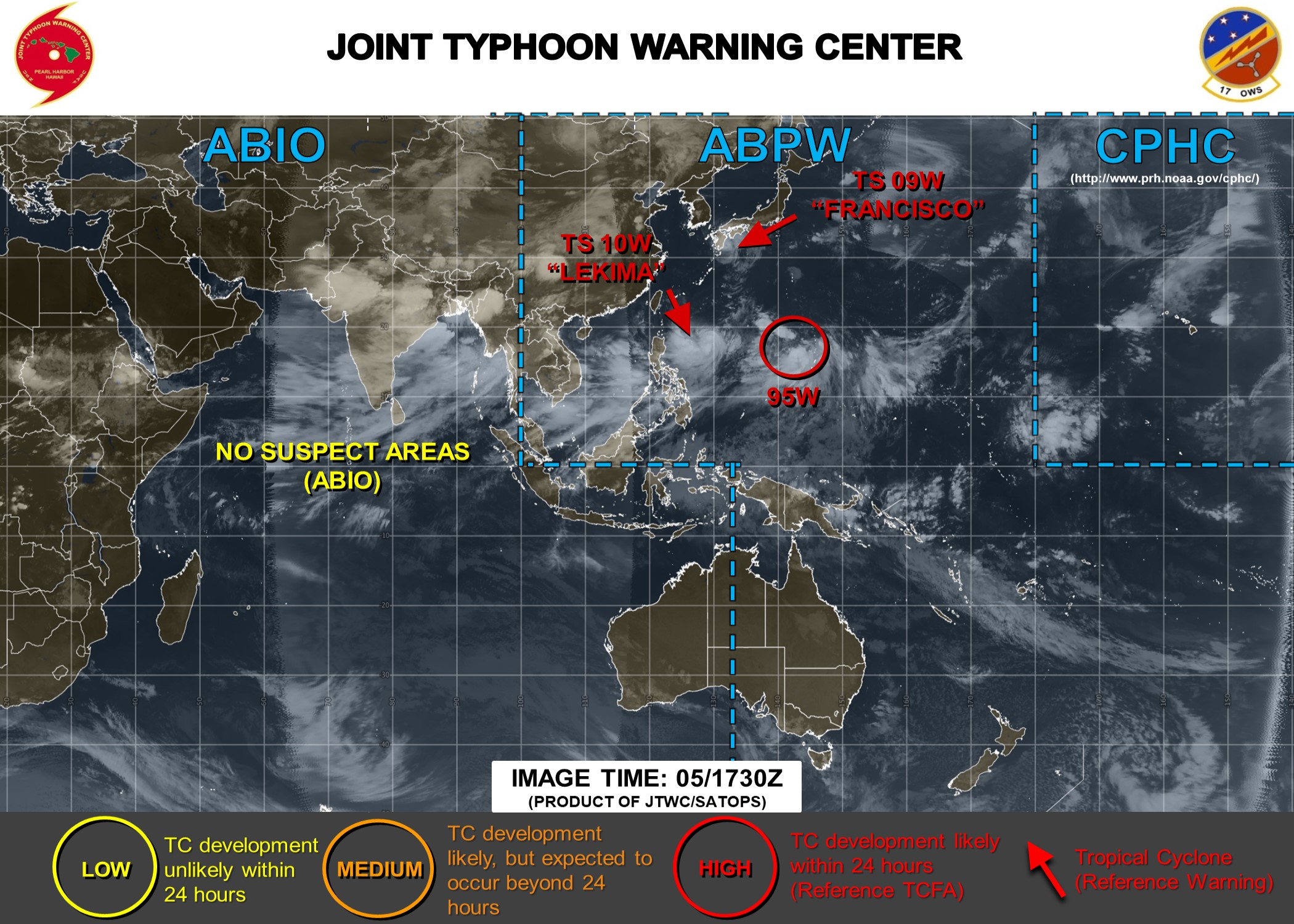 photo:JTWC;desc: Next 24 hours Tropical Cyclone development probability